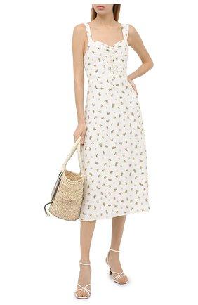 Женское платье из вискозы FAITHFULL THE BRAND белого цвета, арт. FF1585-CRF | Фото 2