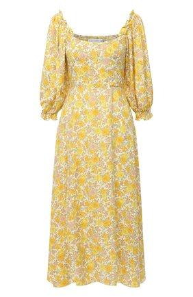 Женское платье из вискозы FAITHFULL THE BRAND желтого цвета, арт. FF1581-GGF | Фото 1