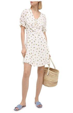 Женское платье из вискозы FAITHFULL THE BRAND белого цвета, арт. FF1577-CRF | Фото 2