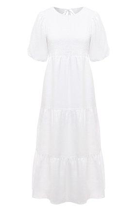 Женское льняное платье FAITHFULL THE BRAND белого цвета, арт. FF1576-WHT | Фото 1