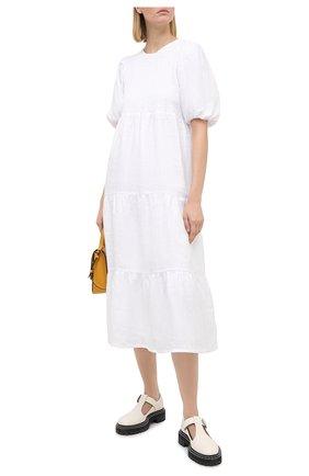 Женское льняное платье FAITHFULL THE BRAND белого цвета, арт. FF1576-WHT | Фото 2