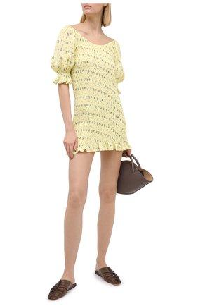 Женское платье из вискозы FAITHFULL THE BRAND желтого цвета, арт. FF1564-LSF | Фото 2