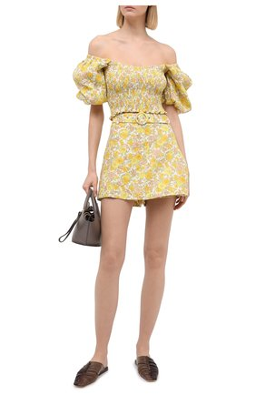 Женская юбка-шорты FAITHFULL THE BRAND желтого цвета, арт. FF1505-GGF | Фото 2