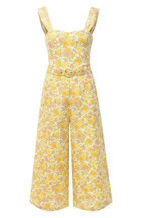 Женский льняной комбинезон FAITHFULL THE BRAND желтого цвета, арт. FF1429-GGF | Фото 1