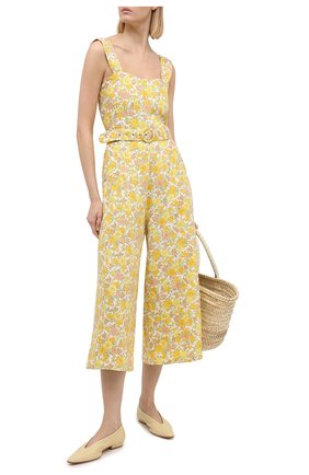 Женский льняной комбинезон FAITHFULL THE BRAND желтого цвета, арт. FF1429-GGF | Фото 2