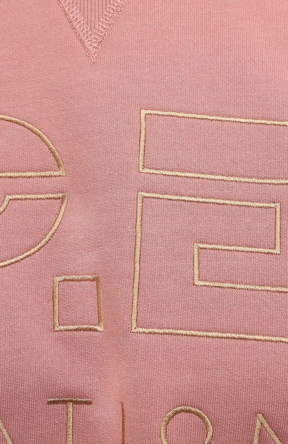 Женский хлопковый свитшот P.E. NATION розового цвета, арт. 20PE2F113 | Фото 5 (Рукава: Длинные; Кросс-КТ: Спорт; Длина (для топов): Стандартные; Женское Кросс-КТ: Свитшот-спорт; Материал внешний: Хлопок; Стили: Спорт-шик)