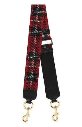 Женские ремень для сумки tartan webbing MARC JACOBS (THE) красного цвета, арт. M0015670 | Фото 1