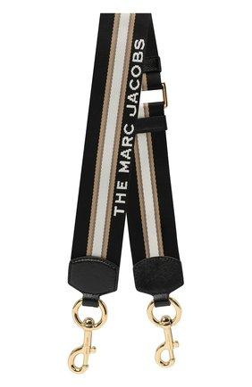 Женские ремень для сумки sport stripe webbing MARC JACOBS (THE) черного цвета, арт. M0015156 | Фото 1
