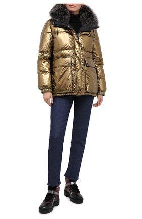 Женский двусторонняя пуховая куртка YS ARMY PARIS черного цвета, арт. 21WFV05170A11G/0LIV0/N0IR | Фото 2