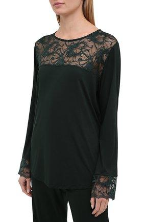 Женская пижама ZIMMERLI темно-зеленого цвета, арт. 762-4144 | Фото 2