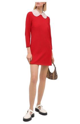 Женское платье REDVALENTINO красного цвета, арт. UR0VAV85/0VM | Фото 2