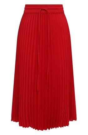 Женская плиссированная юбка REDVALENTINO красного цвета, арт. UR0RAB85/5CY | Фото 1