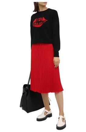 Женская плиссированная юбка REDVALENTINO красного цвета, арт. UR0RAB85/5CY | Фото 2