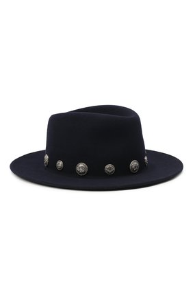 Женская фетровая шляпа MAISON MICHEL темно-синего цвета, арт. 1025053001/THADEE   Фото 1