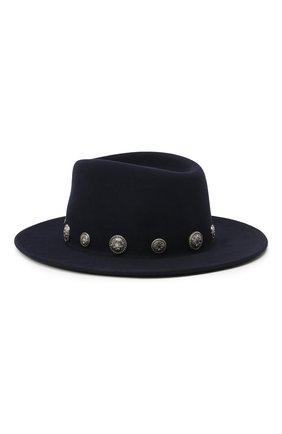 Женская фетровая шляпа MAISON MICHEL темно-синего цвета, арт. 1025053001/THADEE   Фото 2