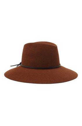 Женская фетровая шляпа MAISON MICHEL коричневого цвета, арт. 1009054001/KATE   Фото 1