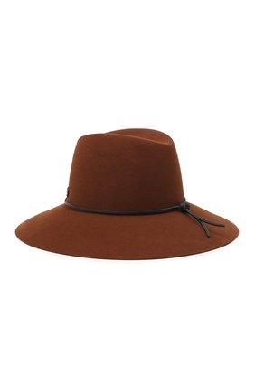 Женская фетровая шляпа MAISON MICHEL коричневого цвета, арт. 1009054001/KATE   Фото 2