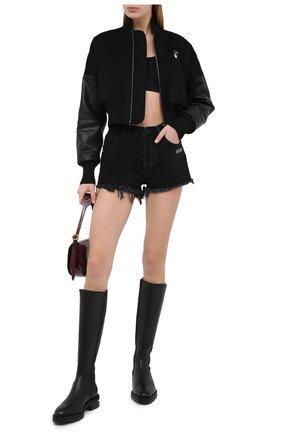 Женские джинсовые шорты OFF-WHITE черного цвета, арт. 0WYC002E20DEN0011000 | Фото 2