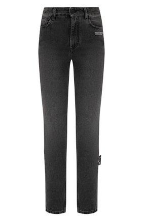 Женские джинсы OFF-WHITE серого цвета, арт. 0WYA019E20DEN0050600   Фото 1