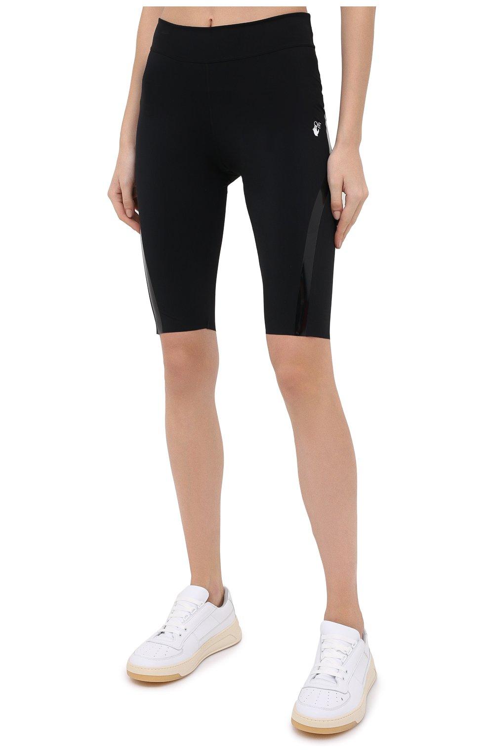 Женские шорты OFF-WHITE черного цвета, арт. 0WVH011E20JER0011001   Фото 3