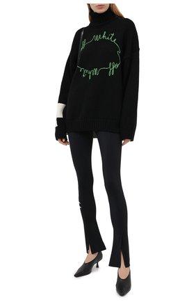 Женские брюки OFF-WHITE черного цвета, арт. 0WVG013E20JER0011001 | Фото 2