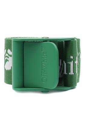 Женский текстильный ремень industrial OFF-WHITE зеленого цвета, арт. 0WRB035E20FAB0015501 | Фото 1