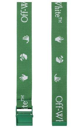 Женский текстильный ремень industrial OFF-WHITE зеленого цвета, арт. 0WRB035E20FAB0015501 | Фото 2