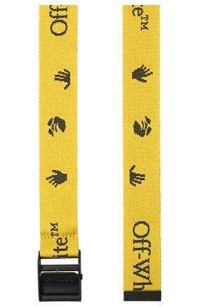 Женский текстильный ремень industrial OFF-WHITE желтого цвета, арт. 0WRB035E20FAB0011810 | Фото 2
