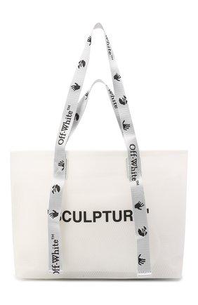 Женский сумка-шопер sculpture small OFF-WHITE черно-белого цвета, арт. 0WNA143E20PLA0020110 | Фото 1