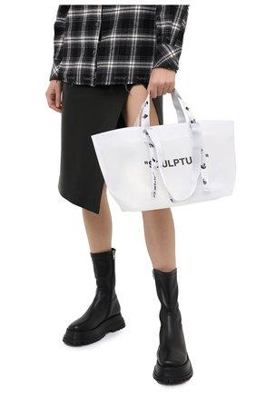 Женский сумка-шопер sculpture small OFF-WHITE черно-белого цвета, арт. 0WNA143E20PLA0020110 | Фото 2