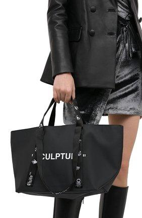 Женский сумка-шопер sculpture small OFF-WHITE черного цвета, арт. 0WNA143E20PLA0011001 | Фото 2