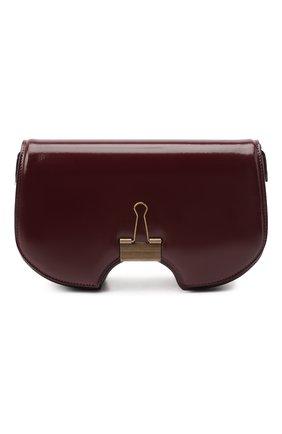 Женская сумка swiss flap OFF-WHITE бордового цвета, арт. 0WNA141E20LEA0032800 | Фото 1