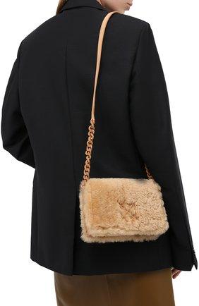 Женская сумка 0.5 jitney OFF-WHITE бежевого цвета, арт. 0WNA104E20LEA0046100   Фото 2