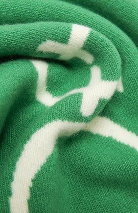 Женский шерстяной шарф OFF-WHITE зеленого цвета, арт. 0WMA017E20KNI0015501 | Фото 2