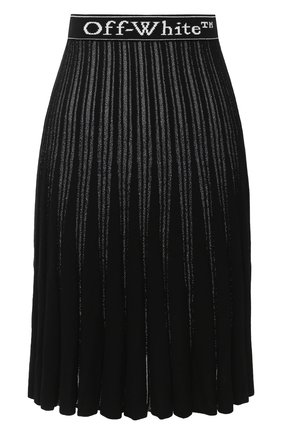 Женская юбка OFF-WHITE черного цвета, арт. 0WHL009E20KNI0011001 | Фото 1