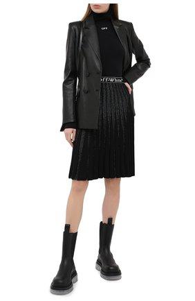 Женская юбка OFF-WHITE черного цвета, арт. 0WHL009E20KNI0011001 | Фото 2