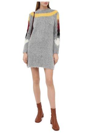 Женское платье OFF-WHITE серого цвета, арт. 0WHI031E20KNI0010884 | Фото 2