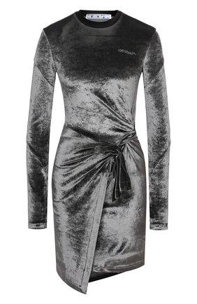 Женское платье OFF-WHITE серого цвета, арт. 0WDB241E20FAB0010808 | Фото 1