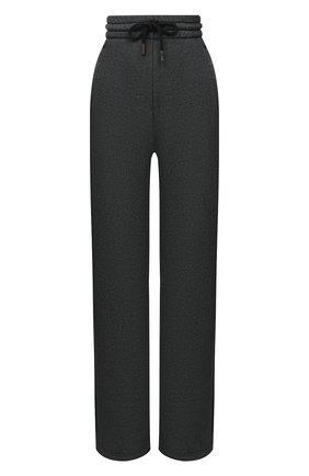 Женские хлопковые брюки OFF-WHITE черного цвета, арт. 0WCH005E20JER0011010   Фото 1