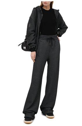 Женские хлопковые брюки OFF-WHITE черного цвета, арт. 0WCH005E20JER0011010   Фото 2