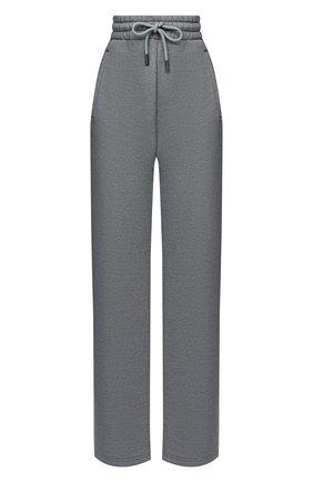Женские хлопковые брюки OFF-WHITE серого цвета, арт. 0WCH005E20JER0010808   Фото 1