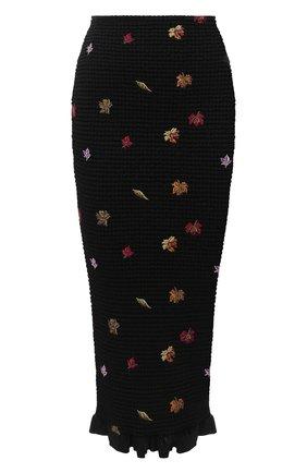 Женская юбка из вискозы OFF-WHITE черного цвета, арт. 0WCC104E20FAB0011001 | Фото 1