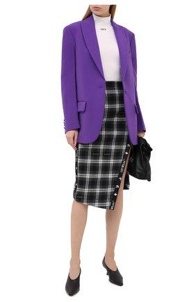 Женская хлопковая юбка OFF-WHITE черно-белого цвета, арт. 0WCC101E20FAB0021000   Фото 2