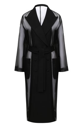 Женский плащ DOLCE & GABBANA черного цвета, арт. F0AC9T/HUMIP | Фото 1
