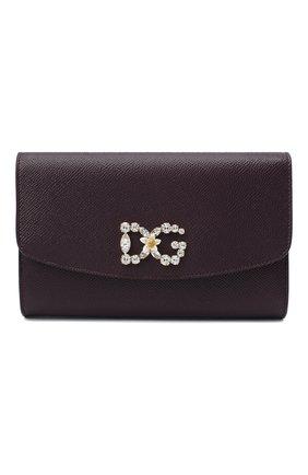 Женские кошелек на цепочке DOLCE & GABBANA бордового цвета, арт. BI1275/AU771 | Фото 1