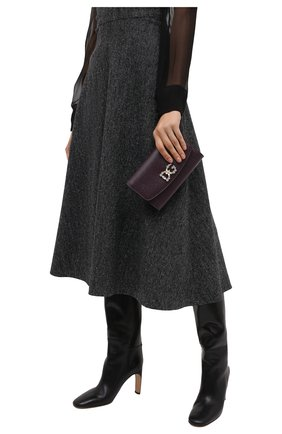 Женские кошелек на цепочке DOLCE & GABBANA бордового цвета, арт. BI1275/AU771 | Фото 2