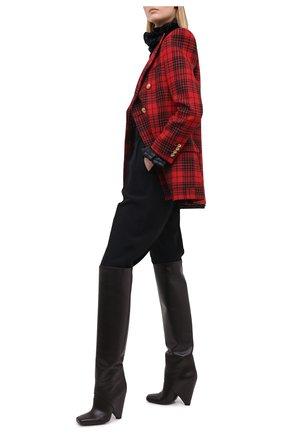 Женский шерстяной жакет SAINT LAURENT красного цвета, арт. 641430/Y8B17 | Фото 2