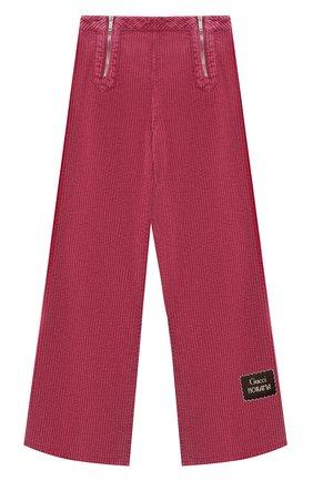 Детские хлопковые брюки GUCCI розового цвета, арт. 621815/XDBDH | Фото 1