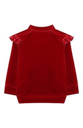 Детский толстовка CHLOÉ красного цвета, арт. C05352 | Фото 2