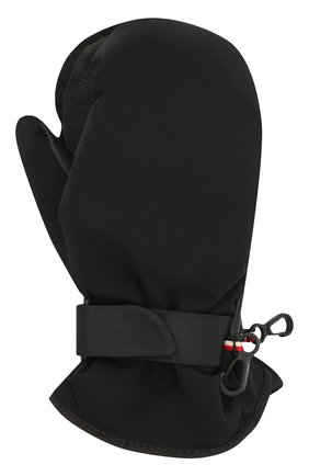 Детские варежки MONCLER черного цвета, арт. F2-954-3A700-00-53066 | Фото 1